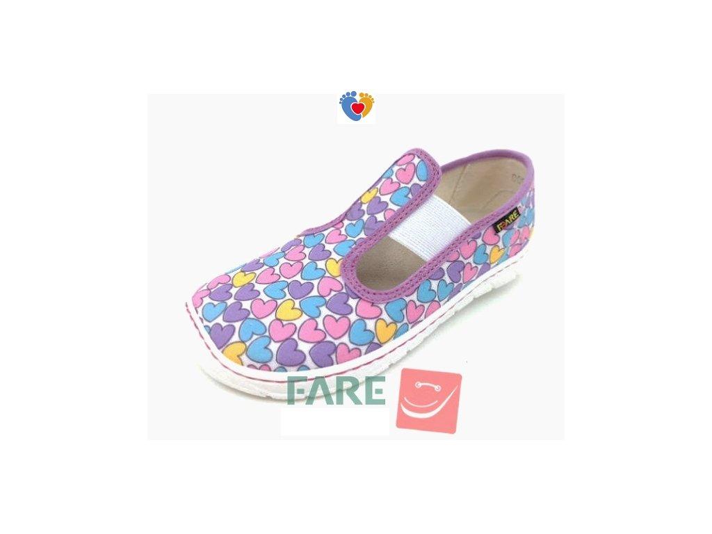Detské barefoot papuče FARE BARE 5201451A