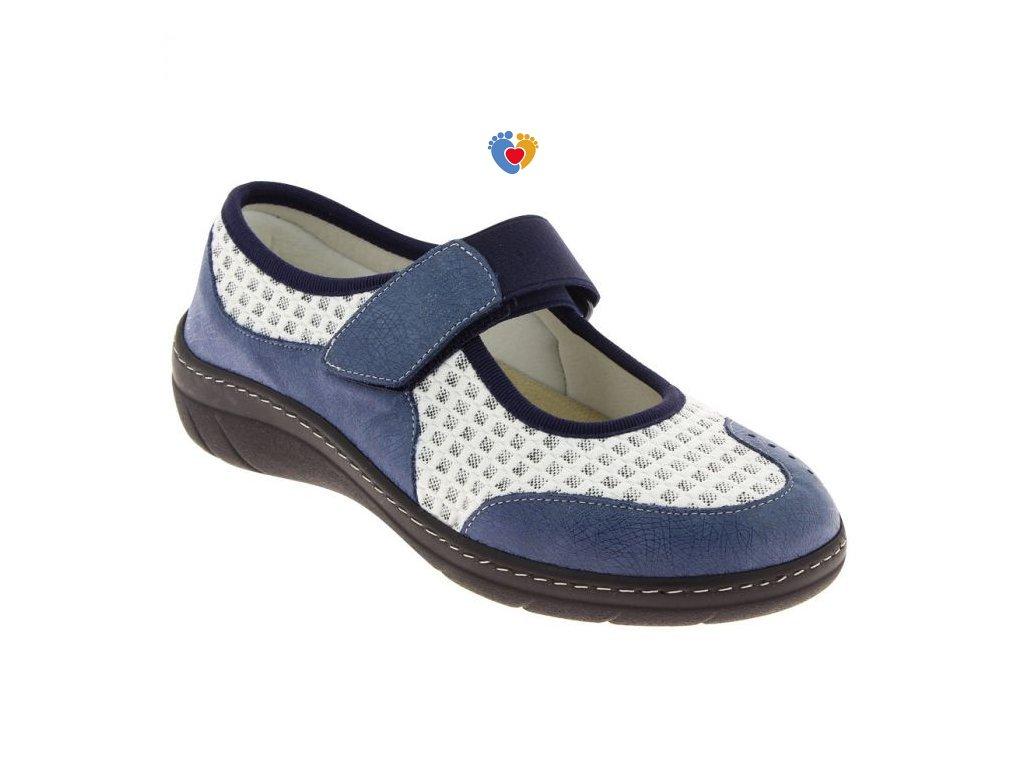 157 virtuel obuv pro sirokou nohu modra podowell
