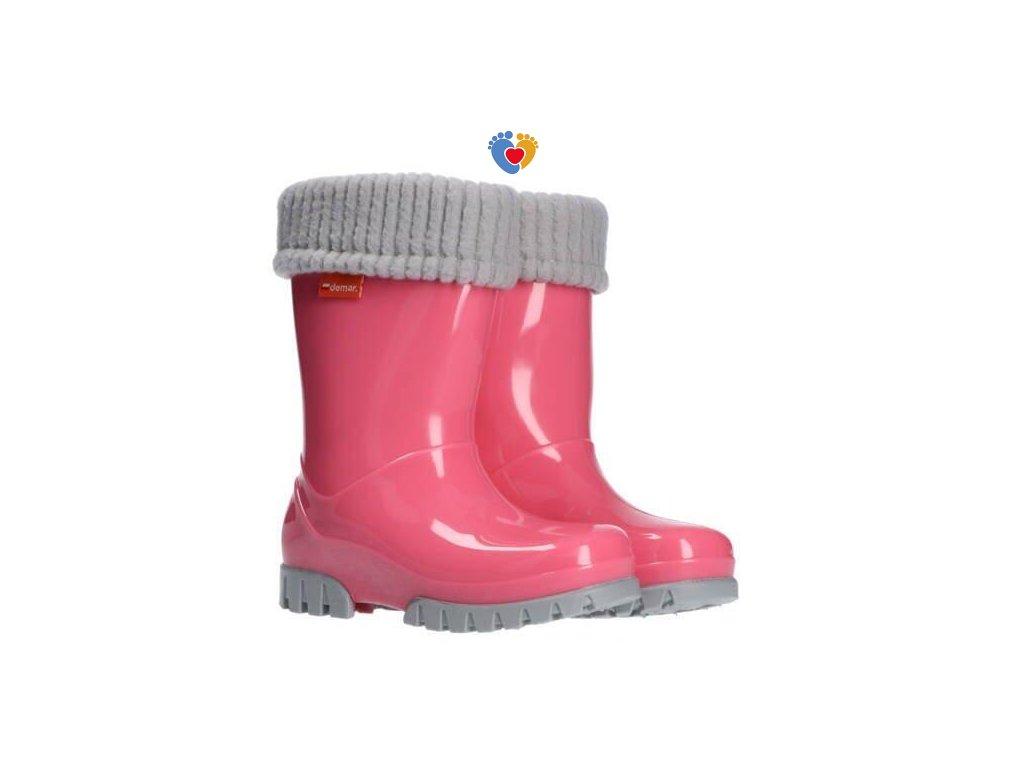 Detské gumáky DEMAR HAWAI LUX 0406/0407 ružová