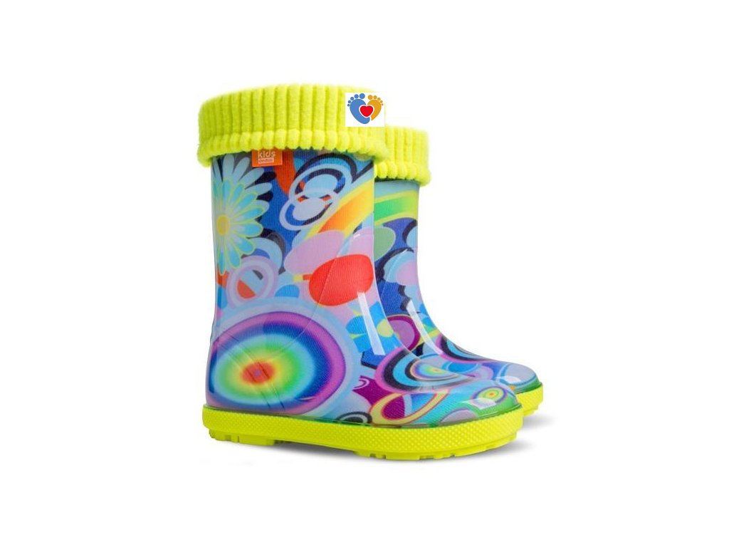 Detské gumáky DEMAR HAWAI LUX EXCLUSIVE EC - rainbow 0448