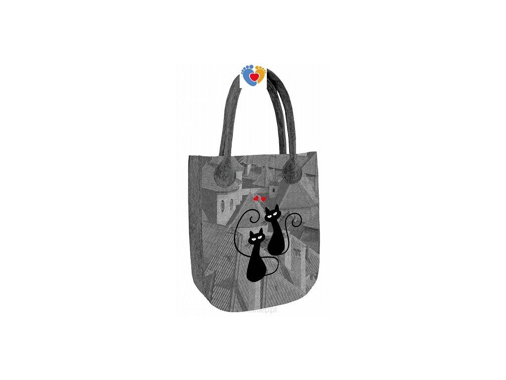 4afdde67c9 Organizér do kabelky - Kočky s červeným obojkom - Centrum zdravých nôh