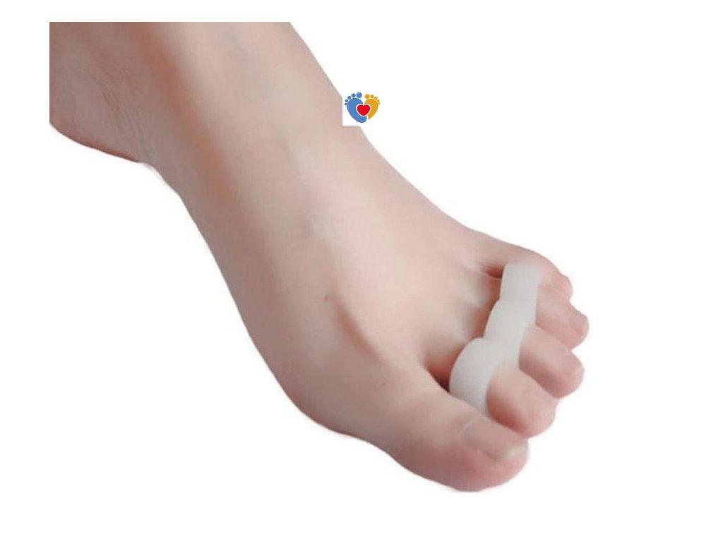 Silikónový separátor na kladivkové prsty