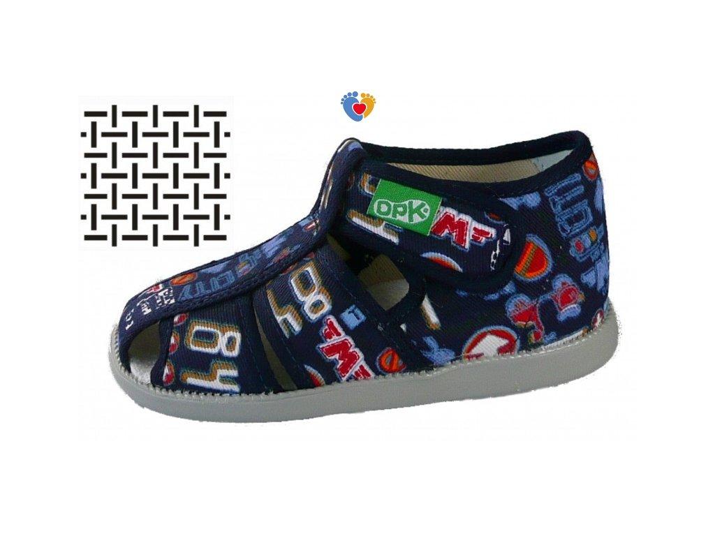 Detské papuče DPK K57011-1-JO-W-AS-0823