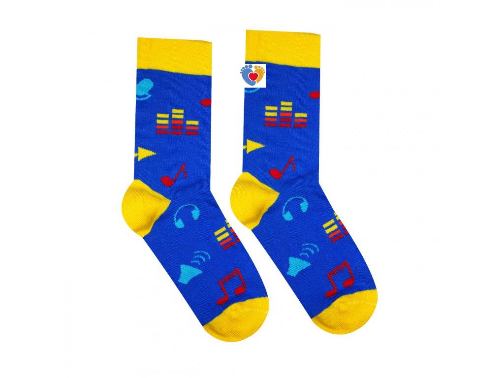farebne ponozky s hudobnym vzorom 1