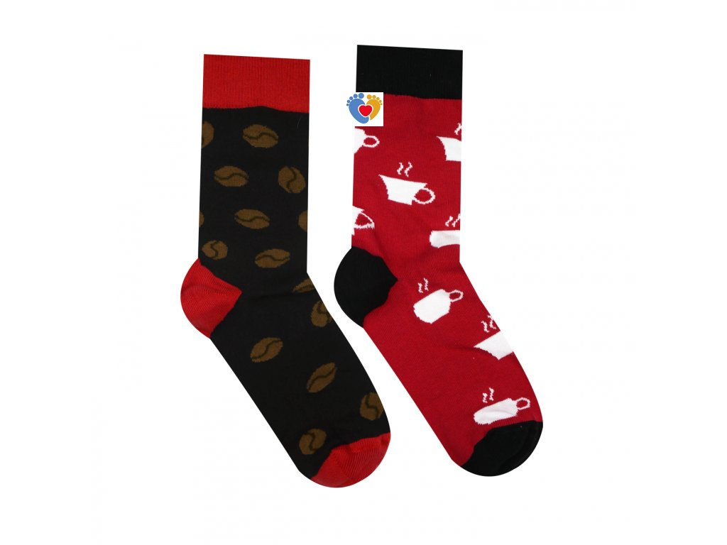 farebne ponožky kavove