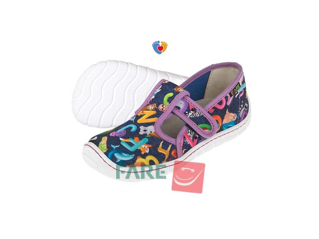 Detské barefoot papuče FARE BARE 5102491