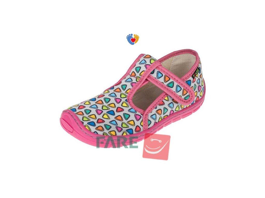 Detské barefoot papuče FARE BARE 5102461