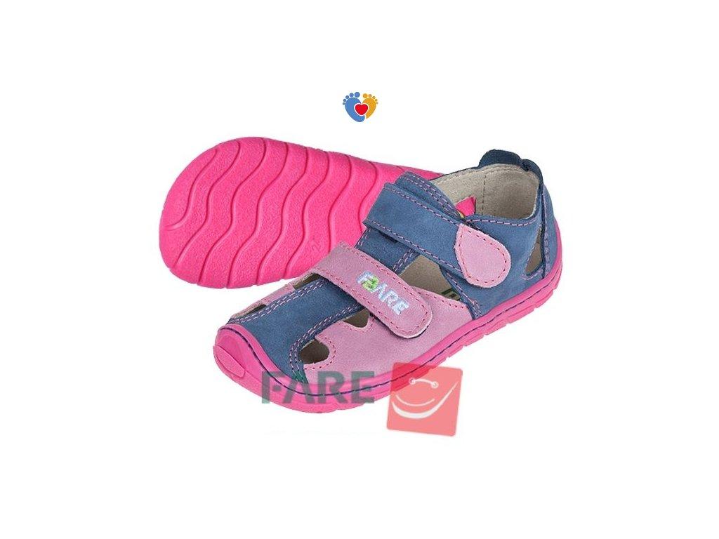 Detské barefoot sandále FARE BARE 5161251