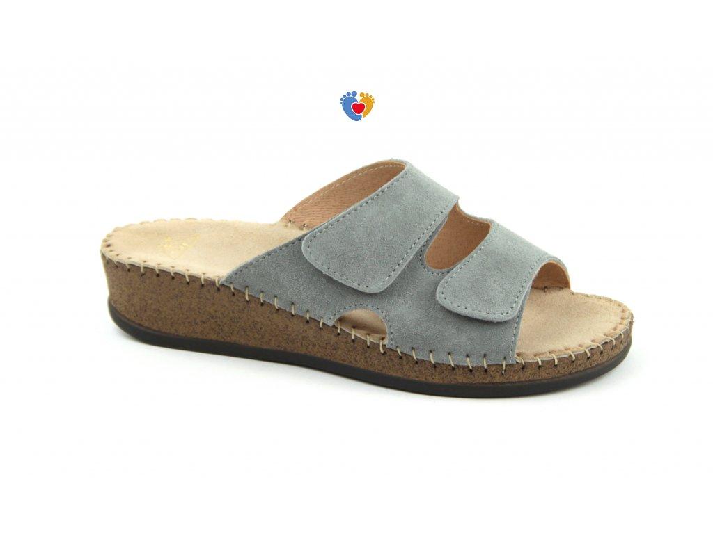 Dámská zdravotná obuv JASNY EMANUELLE šedé, RŠJ 473