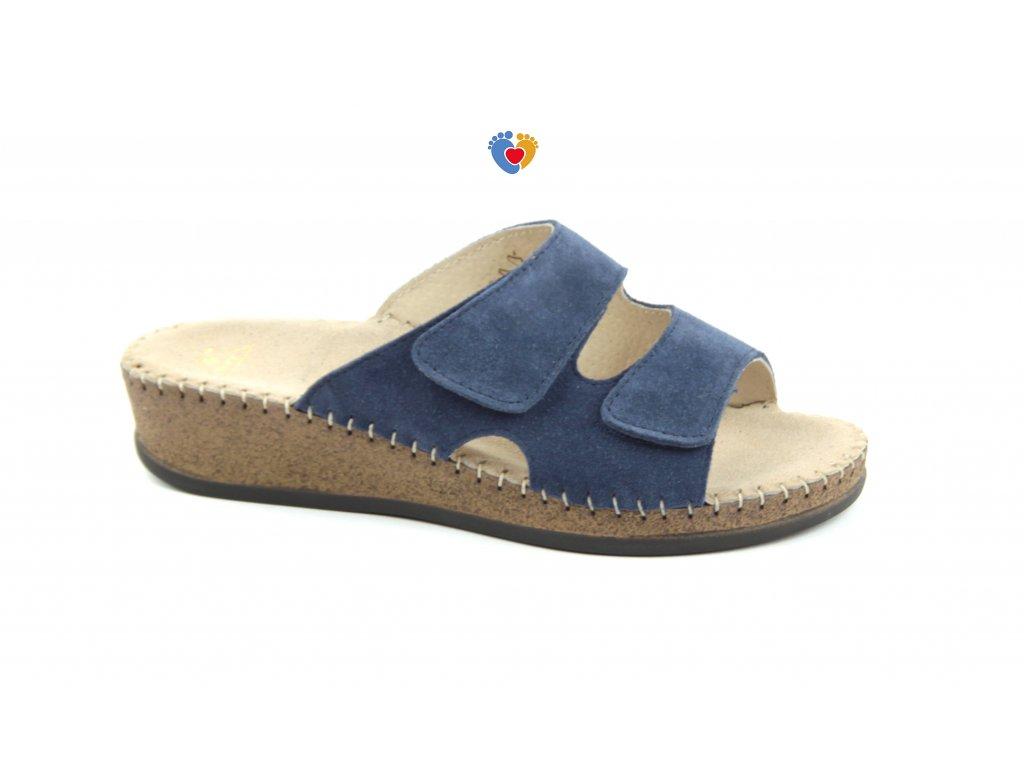 Dámská zdravotná obuv JASNY EMANUELLE modré, RŠJ 473