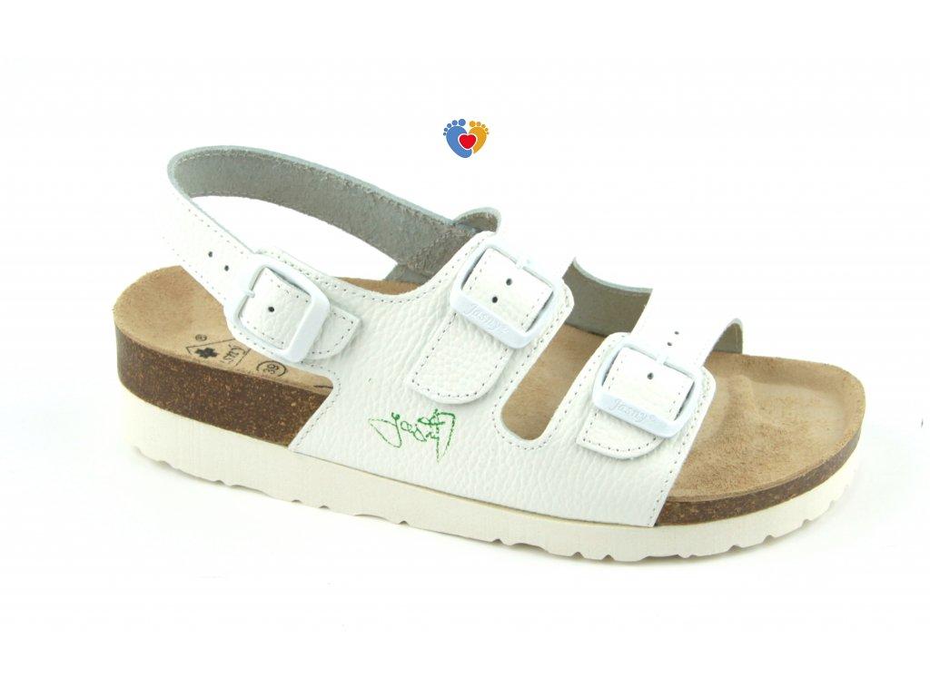 JASNY ortopedické sandále CLASSIC 2002/SK2 biela