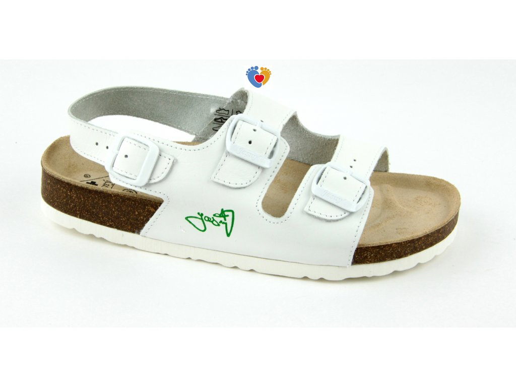 JASNY ortopedické sandále CLASSIC 2002/SR2 biela