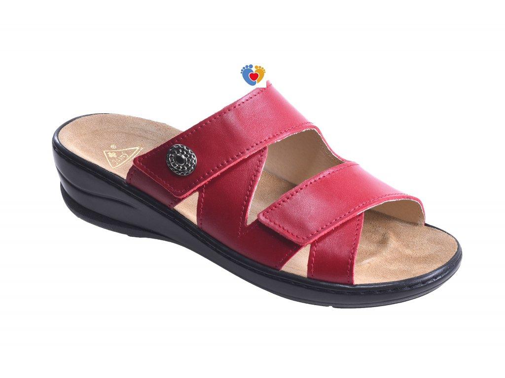 Dámska zdravotná obuv JASNY MC-SAMANTHA červená