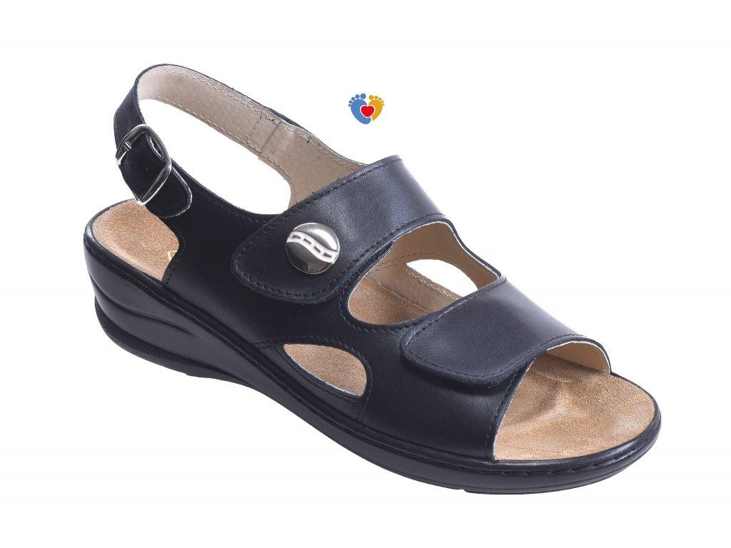 Dámske zdravotné sandále JASNY MC-OLIVIA čierna