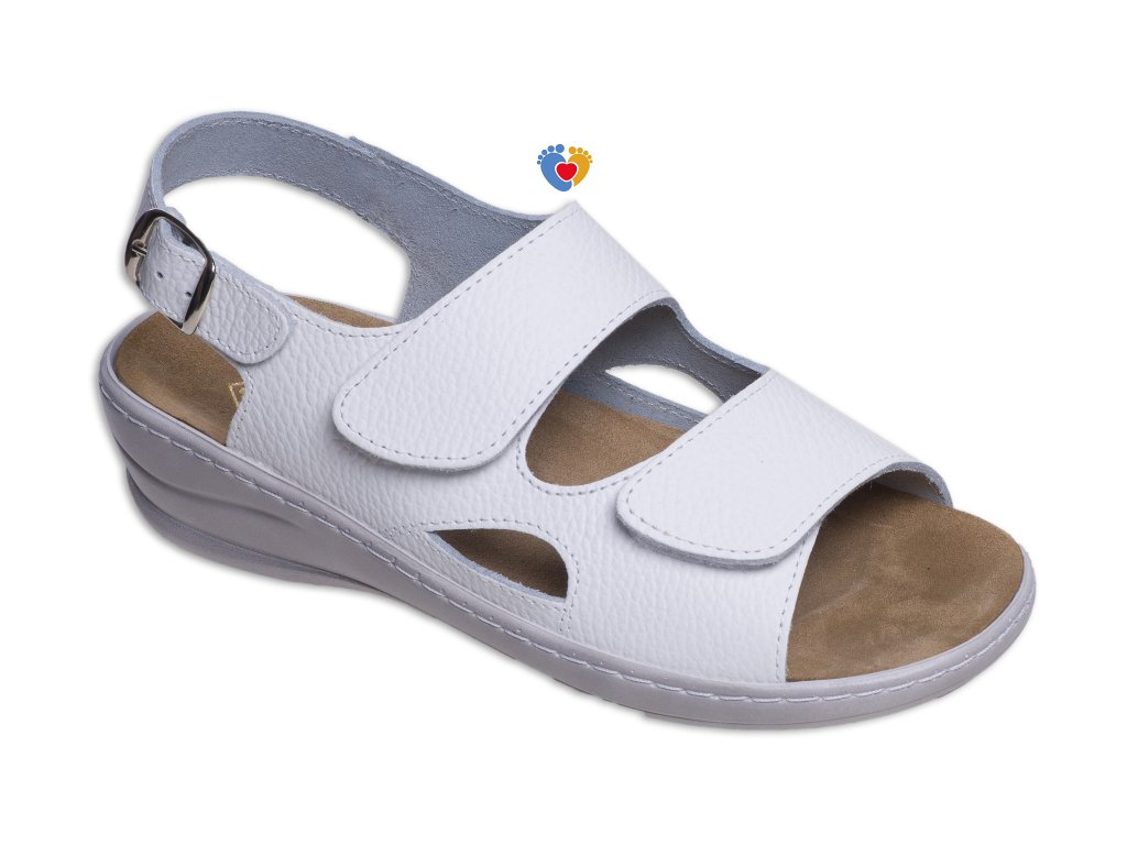 Dámske zdravotné sandále JASNY MC-OLIVIA biela