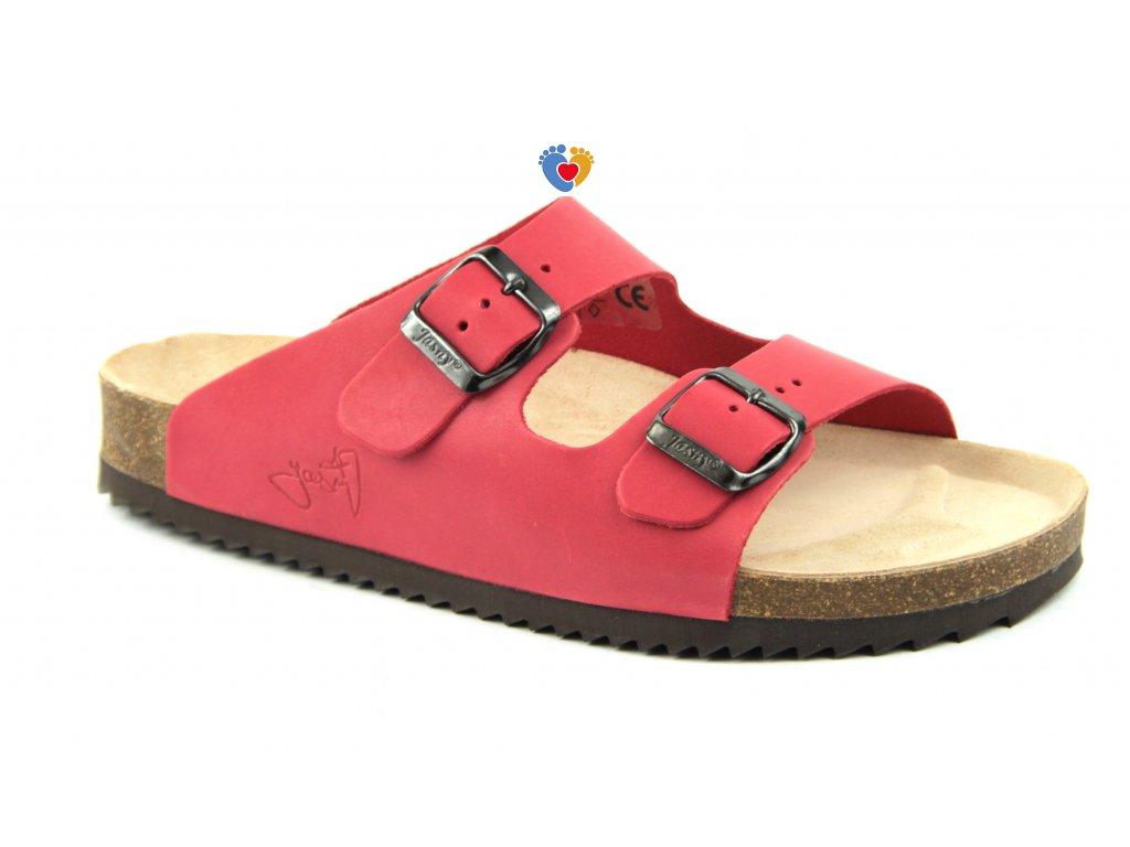 JASNY ortopedická obuv  EVOLUTION E2002/LUCCA červená