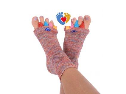 Adjustačné ponožky® MULTICOLOR  ortopedické ponožky