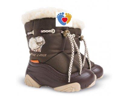 Detské zimné snehule DEMAR-LITTLE LAMB 2 B brown 4015