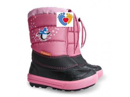 Detské zimné snehule KENNY NB 1502 pink