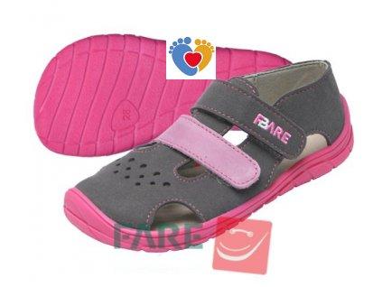 Detské barefoot sandále FARE BARE 5262252