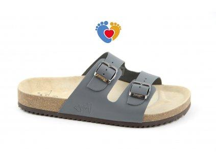 JASNY pánska ortopedická obuv CLASSIC 2002/PR2 šedé