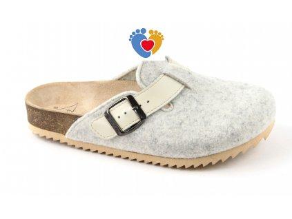 Polouzavřené zdravotní pantofle