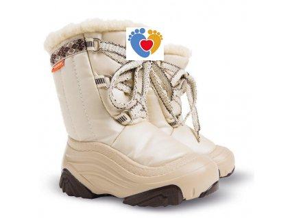 Detské zimné snehule JOY 2 NB beige 4019