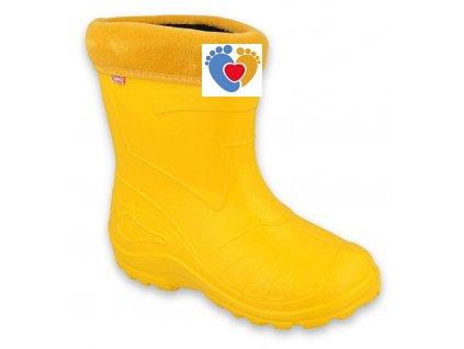BEFADO detské gumáky 162Y107 žlté