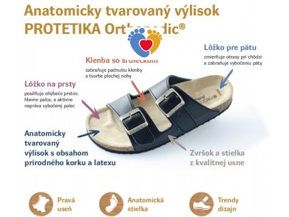 PROTETIKA ortopedicko-rehabilitačné šlapky Typ 13 fuxia