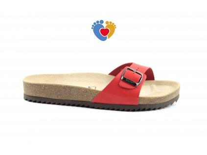 JASNY ortopedická obuv EVOLUTION-VERONA 2002-V-4 červená