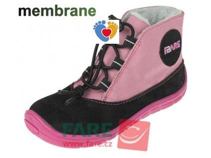 Detské zimné barefoot topánky FARE BARE  5243251