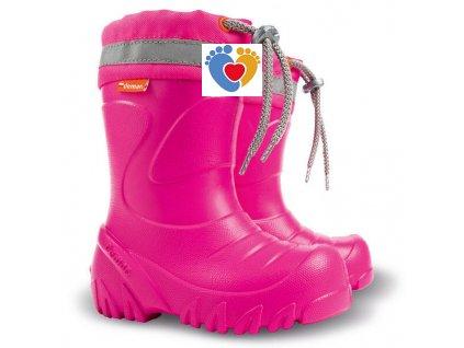 Zateplené gumáky DEMAR-MAMMUT-S 0300 F1 pink