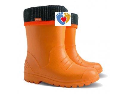 Detské gumáky DEMAR-DINO 0310 C orange