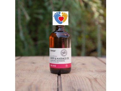massage oil rose large
