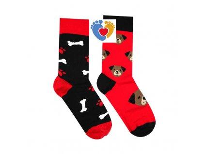 farebné ponoŹky so vzorom pssa z bavlny vyrobene na slovensku