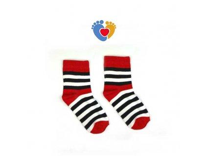detske farebne pasikave ponožky HestySocks