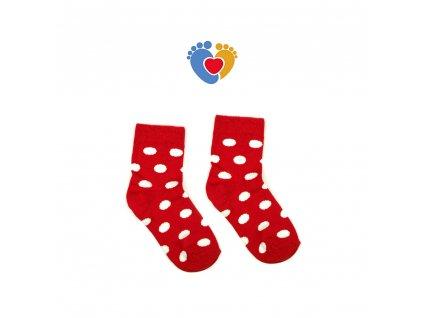 detske štýlové ponožky cervene z bavlny