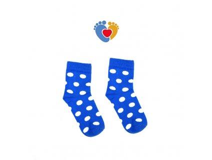 detske modre bodkovane ponozky z bavlny HestySocks