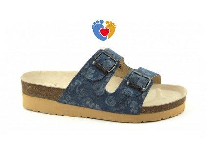 37828ae23544 4586 pantofle na klinku classic blue garden 2002 pk2 53. JASNY ortopedická  obuv ...
