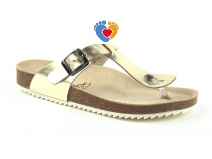 JASNY ortopedická obuv ŽABKY LIBERTY platina