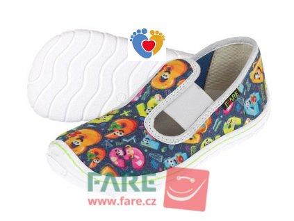 Detské barefoot papuče FARE BARE 5101401