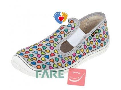 Detské barefoot papuče FARE BARE 5101461