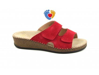 Dámská zdravotná obuv JASNY EMANUELLE červené, RŠJ 473