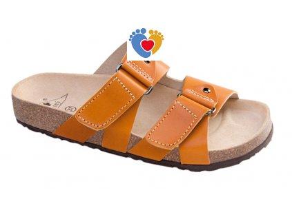JASNY ortopedická obuv EVOLUTION-RAVENNA koňak