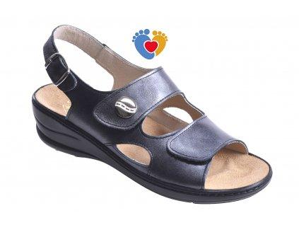 Dámske zdravotné sandále JASNY MC-OLIVIA QUEEN čierna