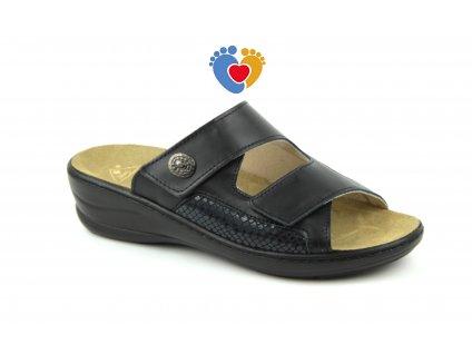 Jasný Pantofle MC-HALLUX černé