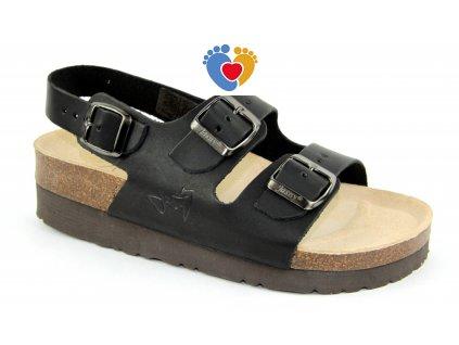 JASNY ortopedické sandále CLASSIC 2002/SK2 čierna