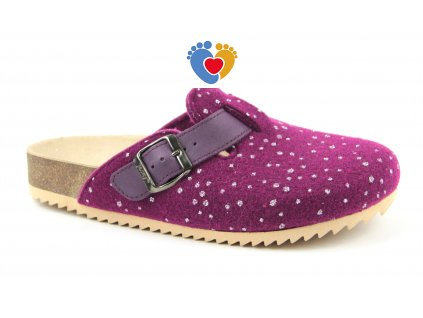 JASNY ortopedická obuv TRENTO FURRY fialová