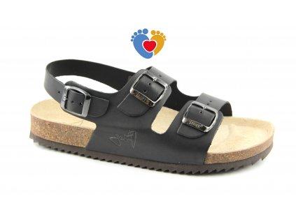 JASNY ortopedické sandále CLASSIC 2002/SR2 čierne
