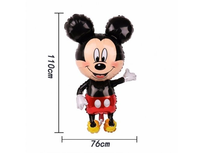 1 1pc 110cm Giant Mickey Minnie Mouse Foil Balloon Cartoon Happy Birthday Party Decorations Kids Baby Shower